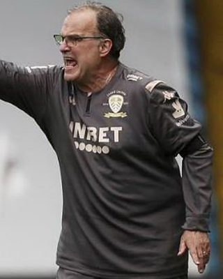 Leeds manager Marcelo Bielsa whose side's fans were also castigated for their behaviour after their celebrations last weekend. Photo: Action Images