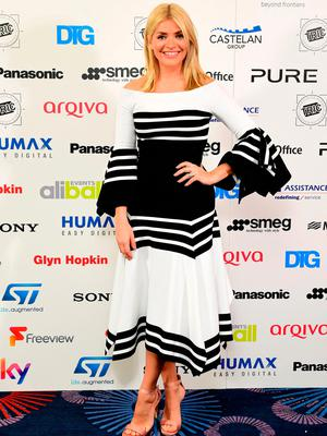 Holly Willoughby during the 2017 Television and Radio Industries Club Awards, Grosvenor House, Park Lane, London