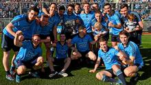 Dublin players celebrate their Allianz NFL Division 1 final victory over Derry last April