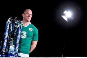 28 January 2015; In attendance at the launch of the RBS Six Nations Championship Launch 2015 is Ireland's Paul O'Connell. RBS Six Nations Championship Launch 2015, The Hurlingham Club, Ranelagh Gardens, London, England. Picture credit: Ramsey Cardy / SPORTSFILE