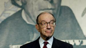 Then head of the US Federal Reserve Alan Greenspan kept markets high by adding liquidity and encouraging risk-taking - the so-called 'Greenspan put'. Photo: Reuters