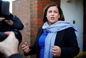 Sinn Fein supremo Mary Lou McDonald. Picture: Reuters