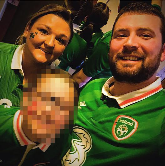 Mum Samantha Willis, pictured here with husband Josh and one of their older children, didn't meet her newborn baby for fear of passing on the virus