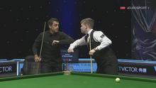 Aaron Hill with Ronnie O'Sullivan. Pic: Eurosport