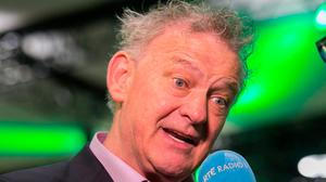 Presidential Candidate Peter Casey at the count centre for the Presidential Election in the Convention Centre, Dublin. Photo: Gareth Chaney Collins