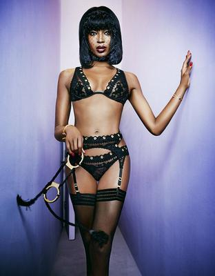 2014: Naomi Campbell for Agent Provocateur. She is FORTY FOUR here. Picture: Ellen Von Unwerth/Agent Provocateur
