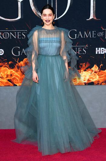 """Emilia Clarke attends the """"Game Of Thrones"""" Season 8 Premiere on April 03, 2019 in New York City. (Photo by Dimitrios Kambouris/Getty Images)"""