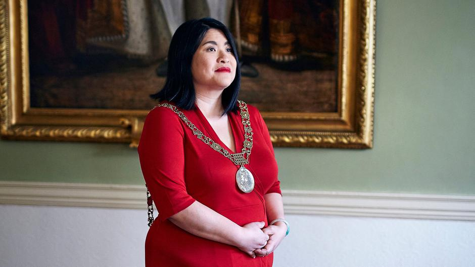 Chain of command:  Hazel Chu is Lord Mayor of Dublin and the first person of colour to hold the office. Photo: Kyle Tunney