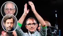 Martin O'Neill and (Left, top) Peter Coates and (bottom) Flores