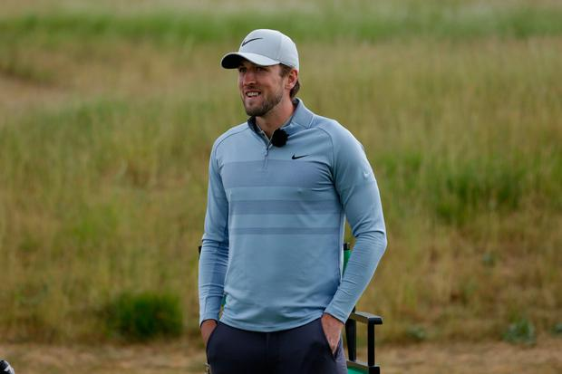 KANE IS ABLE: Harry Kane in action during the Paddy Power Golf Shootout at the Centurion Club, St Albans last Friday. Photo: Dan Jones Images Paddy Power/PA Wire