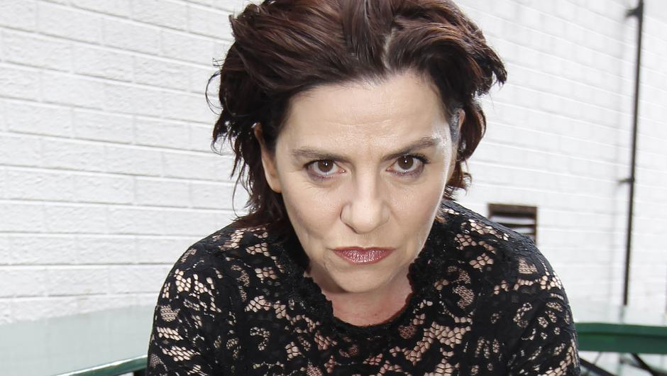 Maria Connolly giving her famous glare in Belfast this week