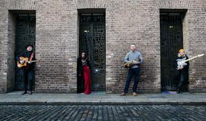 Mundy, Tolu Makay, Mark Redmond and Alibhe Reddy, during the announcement of plans for TradFest 2021 in Temple Bar