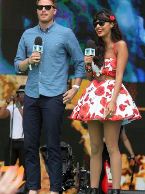 Rick Edwards, Jameela Jamil attend T4 On The Beach on July 10, 2011 in Weston-Super-Mare, England.  (Photo by Tim Whitby/Getty Images)