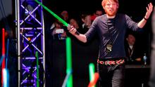 """Actor Domhnall Gleeson and more than 6000 fans enjoyed a surprise """"Star Wars"""" Fan Concert performed by the San Diego Symphony, featuring the classic """"Star Wars"""" music of composer John Williams, at the Embarcadero Marina Park South on July 10, 2015 in San Diego, California.  (Photo by Michael Buckner/Getty Images for Disney)"""
