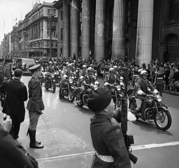 Parades and politics: Finance Minister Jack Lynch rejected the Taoiseach's idea of doubling 1916 military pensions at the time of the 50th anniversary celebrations
