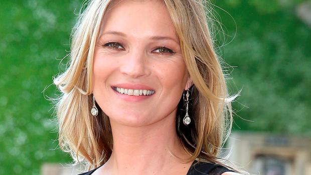 Kate Moss: flew into Luton from Turkey