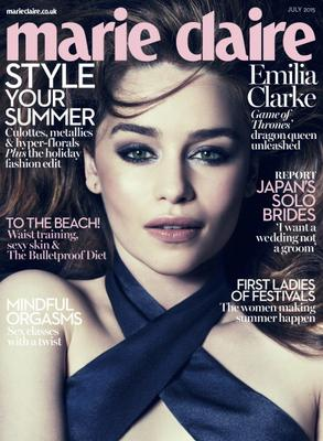Emilia Clarke covers Marie Claire, July 2015