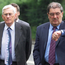 Clashed: Seamus Mallon (left) and John Hume in July 2001. Photo: AP Photo/Alastair Grant