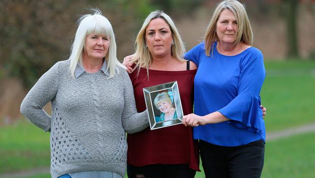 Undated handout photo of (from the left) Julie Jenkins, 53, Elaine Wheeler, 35 and Jan Hopper, 55, the daughters and granddaughter of Sheila Hynes, who died after a heart valve was put in upside down during surgery. Photo: Adrian Don/Handout/PA Wire