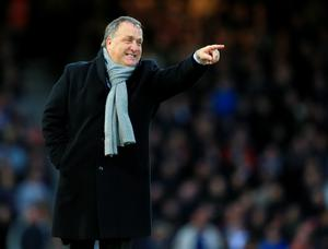 Sunderland Head Coach, Dick Advocaat gestures on the touchline against West Ham United (Nigel French/PA Wire)