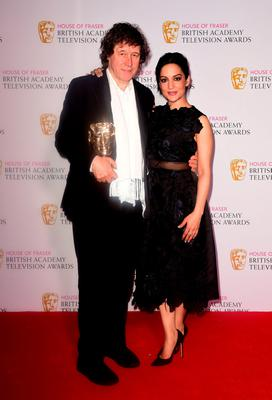 Stephen Rea with the BAFTA for Best Supporting Actor for The Honourable Woman alongside Archie Panjabi. Photo: Ian West/PA Wire