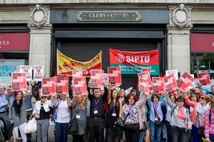 Tuesday 16 June 2015. Clerys protest.