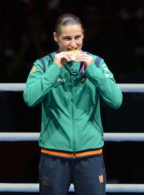 Not asked: Boxer Katie Taylor's 2012 Olympic gold win was featured. Picture: Sportsfile