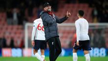 Liverpool manager Jurgen Klopp reacts after the Premier League match at the Vitality Stadium, Bournemouth. Photo credit: Adam Davy/PA Wire