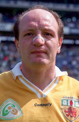 Terence 'Sambo' McNaughton won an All-Star in 1991 on top of six Ulster titles during a 16 years inter-county career for Antrim before going on to manage the county. Photo by Brendan Moran/Sportsfile