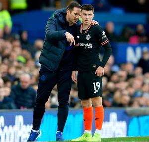 Chelsea manager Frank Lampard (left) with young star Mason Mount
