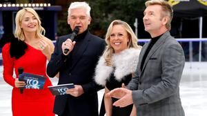Holly Willoughby, Phillip Schofield, Jayne Torvill and Christopher Dean (David Parry/PA)