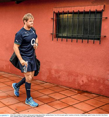 Ireland's Chris Henry during squad training ahead of their opening Summer Tour test game against Argentina