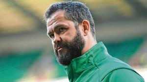 Different approach: Andy Farrell's mild manner couldn't be more different from Eddie Jones's snide approach. Photo: Ramsey Cardy/Sportsfile