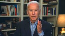 Livestream: Joe Biden during a virtual press briefing. Photo: Biden for President via AP