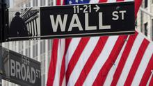 The Wall Street sign is pictured at the New York Stock exchange (NYSE) in the Manhattan borough of New York City, New York, U.S. Photo: REUTERS/Carlo Allegri/File Photo