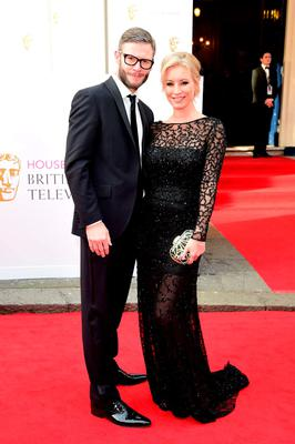 Eddie Boxshall (left) and Denise van Outen arrive for the House of Fraser British Academy of Television Awards at the Theatre Royal, Drury Lane in London. PRESS ASSOCIATION Photo. Picture date: Sunday May 10, 2015. See PA story SHOWBIZ Bafta. Photo credit should read: Ian West/PA Wire