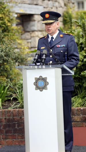Garda Commissioner Drew Harris speaking at the event. Photograph: Leah Farrell / RollingNews.ie