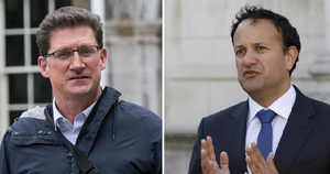 Criticised over advisers: Green Party leader Eamon Ryan. Going on the defensive: Tánaiste Leo Varadkar.