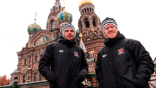 Andy Boyle and Daryl Horgan making waves on the road in St Petersburg.