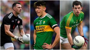 Left to right, Tyrone goalkeeper Niall Morgan, Kerry captain David Clifford and Meath defender Donal Keogan would all make Pat Spillane's dream team