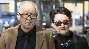 Patrick and Geraldine Kriegel, parents of Ana, at court. Photo: Collins Courts