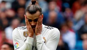 Real Madrid's Gareth Bale looks dejected after missing a chance to score  REUTERS/Susana Vera