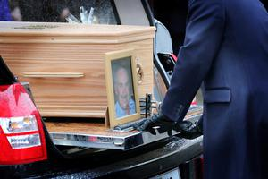 The Funeral of Paul Drury at The Rathmichael Parish Church, Shankhill today