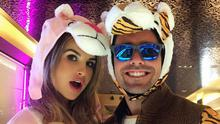 Vogue Williams, left, and Spencer Matthews, right