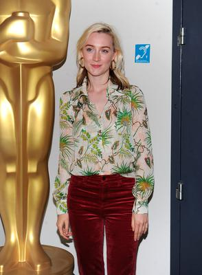 "Saoirse Ronan attends an official Academy screening of ""Lady Bird"" hosted by The Academy of Motion Picture Arts & Sciences on November 7, 2017 in New York City.  (Photo by Brad Barket/Getty Images  for The Academy of Motion Picture Arts & Sciences )"