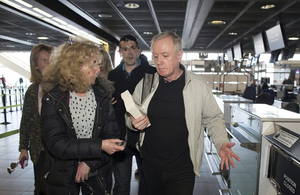 Eamonn Lillis pictured at Dublin airport following his release from Wheatfield prison. Photo: David Conachy