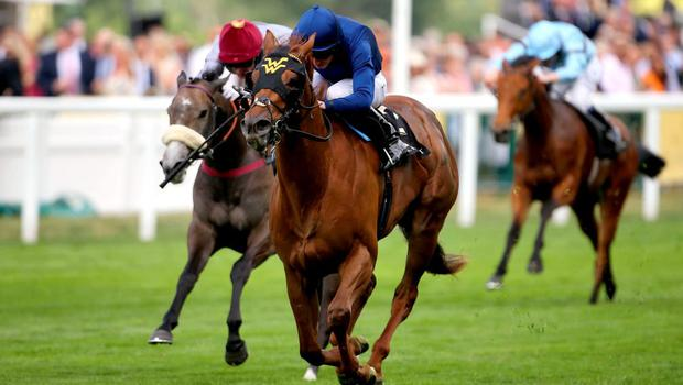 Acapulco ridden by jockey Ryan Moore comes home to win the Queen Mary Stakes during day two of the 2015 Royal Ascot Meeting