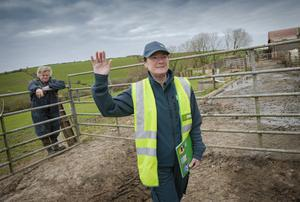 LINK TO THE OUTSIDE WORLD: Postwoman Bernie Ronan delivers vital services such as mail to farmer Con Foott who lives in Robert's Cove, Co Cork. Photo: Daragh Mc Sweeney/Provision