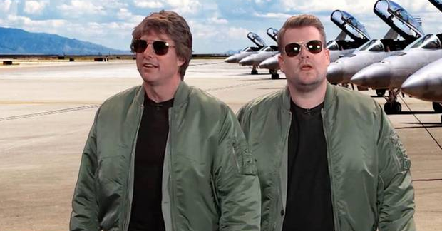 Tom Cruise and James Corden on The Late Late Show