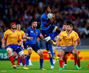 Noa Nakaitaci during the 2015 Rugby World Cup Pool D match between France and Romania at the Olympic Stadium on September 23, 2015 in London, United Kingdom.